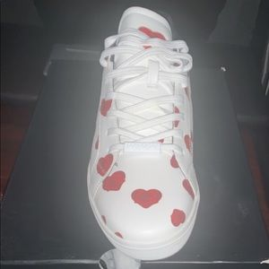 White Aldo all over heart print sneakers